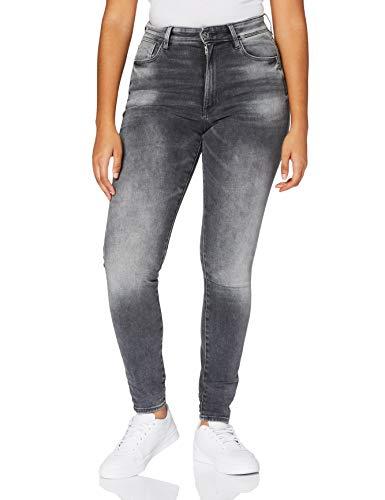 G-STAR RAW Damen Jeans Kafey Studs Ultra High Waist Skinny, Vintage Basalt A634-B168, 29W / 32L