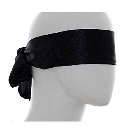 eeddoo® Damen & Herren Augenbinde aus Polyester - Schwarz - für erotische Spiele und Bondage Fesselspiele