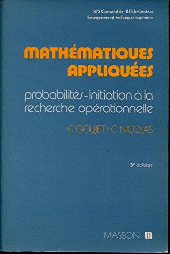 Mathematiques Appliquees Bts Comptable Iut De Gestion Enseignement Technique Superieur