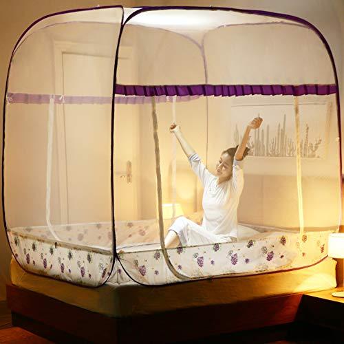 KE & LE klamboe tent, vouwontwerp met bodem muggennet baldakijn muggennet baldakijn muggennet baldakijn muggennet om op te hangen