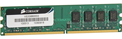 Corsair VS2GB800D2 Value Select 2GB (1x2GB) DDR2 800 Mhz CL5