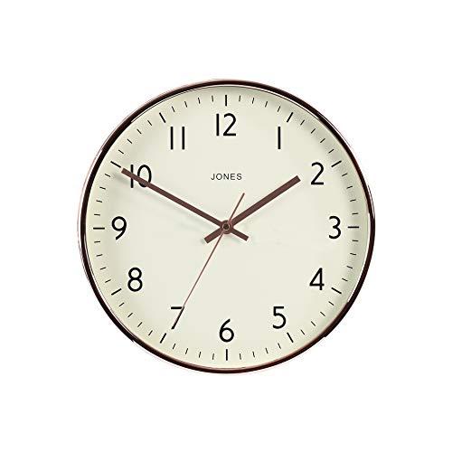 Jones Clocks ® Studio Wanduhr, Moderne Uhr, Bunt, Gut lesbar 30cm (Kupfer)