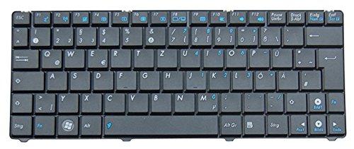 NExpert deutsche QWERTZ Tastatur für ASUS Eee PC 1101HA N10 N10J N10E Series Schwarz DE Neu
