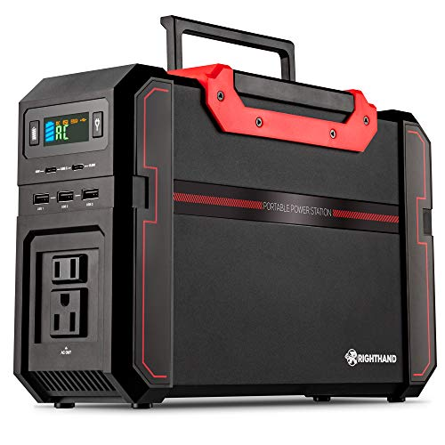 Portable Power Station, 450W Pure Sine Wave Backup Lithium Battery, Dual 110V AC Outlets, 444Wh Solar Generator, 2 USB Type-C, 3 USB-A Ports, 3 DC Ports, for Emergency Camping Outdoors Travel Hunting Generators portable
