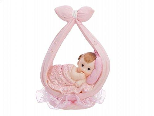 Babyfigur Windeltorte Figur Tortenfigur Tortenaufsatz Taufe Geburt Baby | Baby in Windel | rosa | 11 cm