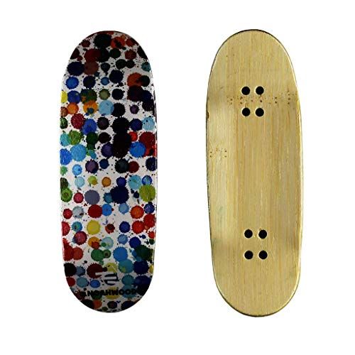 NOAHWOOD X Fingerbird Fingerboards 8.0 Deck (PRO Dyed 6-Layer Separate Cold-Press Crafts Handmade) (100 x 34 mm Bamboo 360flip Deck, Dripped i)