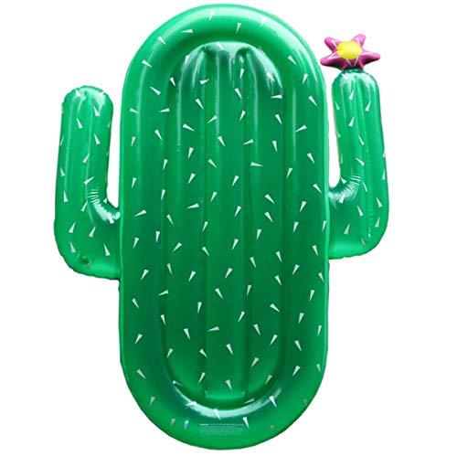 YIQIFEI Cactus, Flotador de Piscina, sillas de Piscina, Flotador de Flotador Inflable de Cactus Flotante para Piscina, sillón, para Vacaciones en la Playa, sw (Nadar)