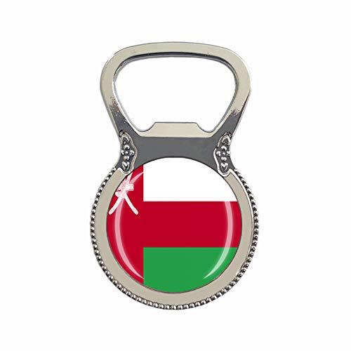Oman-Flagge Bierflaschenöffner Kühlschrank Magnet Metall Glas Kristall Reise Souvenir Geschenk Heimdekoration