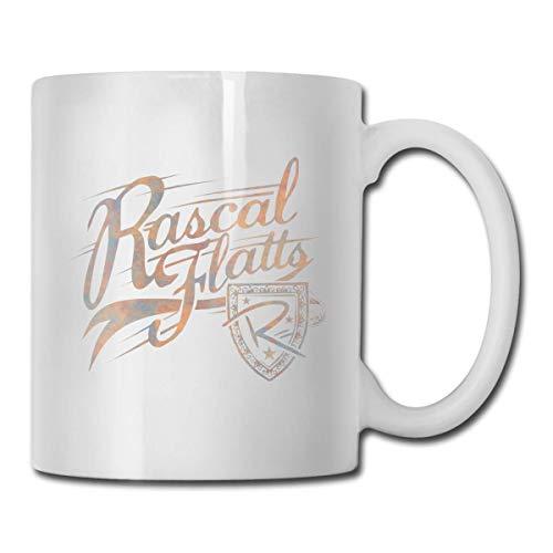 Rascal Flatts Mug Tazza da caffè Tazza da tè Tazze da Vino Novità Tazza Divertente Tazze in Ceramica Bianca Tazza Grande con Stampa fronte-Retro con manico a C