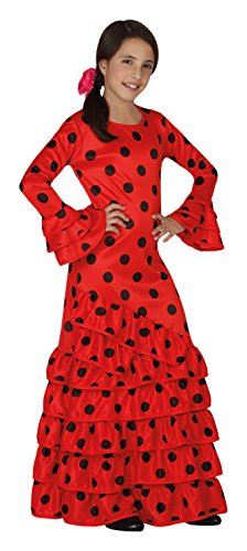 Atosa 26532 – Flamenco, rouge, Taille 128, rouge/noir