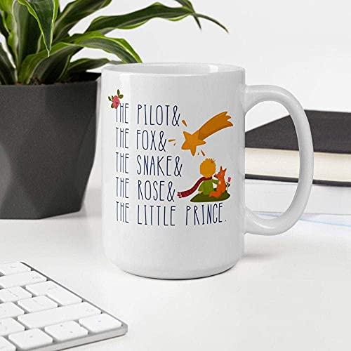 N\A El Principito Taza Bookish Coffee Cup Book Lover Present Book Geek Mug Reader Mug Presente para Reader Bookstagram EUVAP7