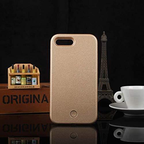 Carcasa luminosa para iPhone 6, 6S, 7, 8 Plus, X, ideal para selfies, luz brillante, para iPhone 5, 5S, SE