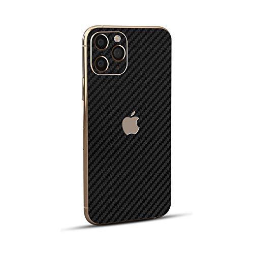 Normout iPhone 11 Pro Max Skin Schutzfolie Rückseite Carbon Schwarz- 2X Backcover für iPhone 11 Pro Max Rückseite, 2X iPhone Kamera Folie - Schützt vor Kratzern, Beschädigungen & Fingerabdrücken