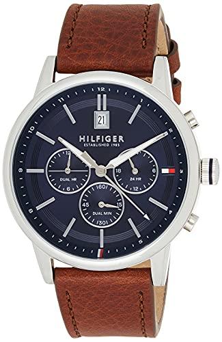 Tommy Hilfiger Reloj analógico para Hombre. de Cuarzo con Correa en Cuero 1791629