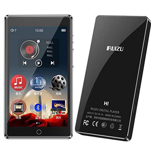 Bluetooth5.0 MP3-Player Eingebauter Lautsprecher 8 GB mit 4,0-Zoll-Voll-Touchscreen HiFi Verlustfreier Sound Musik-Player Unterstützung für FM-Radio, Aufnahme, E-Book, Video, Micro SD bis zu 128 GB