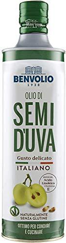 BENVOLIO 1938 Olio di Semi D'UVA Spremuto a Freddo - 750ml - da Vinacciolo 100% ITALIANO 750ml