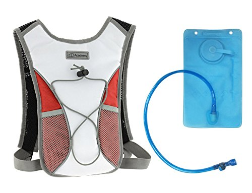 Dawes Quality Academy Junior Kids Cycling Hiking Hydro Pack Hydration Water Fluids Bladder Bag Backpack Reservoir 1.5L White/Red