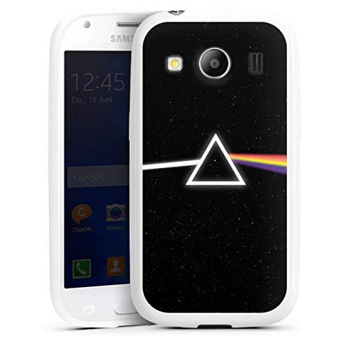 DeinDesign Silikon Hülle kompatibel mit Samsung Galaxy Ace 4 Hülle weiß Handyhülle Weltraum Men Style Regenbogen
