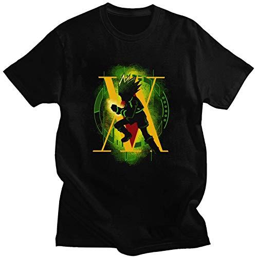 Yesgirl Camiseta unisex Hunter X Hunter Killua Hisoka Kurapika Gon de manga corta para hombre y mujer H negro. S