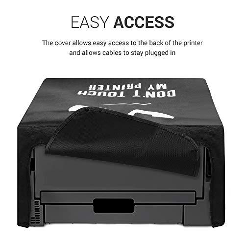 kwmobile Funda Compatible con Brother HL-L2310D / L2350DW / L2370DN / L2375DW - Cubierta de Impresora Blanco/Negro Don't Touch my Printer
