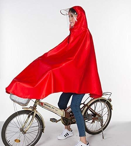 ZXL Regenjas, multifunctionele lichte regenjas, elektrische fietsregenjas, volwassenen, mannen en vrouwen, fiets, mountainbike, poncho, fietsregenjas, enkele XXXL regenkleding (F