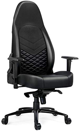 Gtracing Big and Tall 350lb Gaming Chair Luxury Series Computer Desk Chair Premium Pu Leather Ergonomic Cold Foam Upholstery Racing Design Black