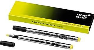 Montblanc Document Marker Refills Luminous Yellow 105168 – Highlighter Refills in Bright Yellow – 2 x Pen Refills