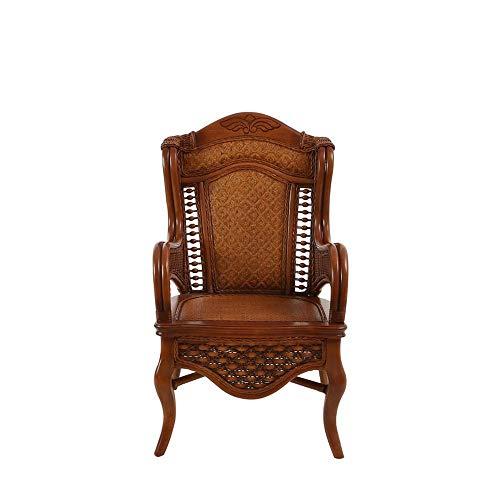 Echte rotan meubelstoel woonkamer rotan stoel rotan eettafel en stoelen moderne Europese massief hout vrije tijd rieten stoel