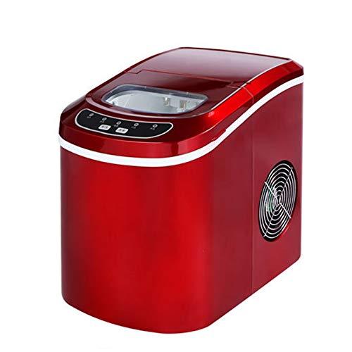 JTJxop Máquina para Hacer Cubitos De Hielo, con Luces Indicadoras LED, 33 Libras En 24 Horas, 9 Cubitos De Hielo Listos En 6-13 Minutos, para La Fiesta De La Barra De La Oficina, Rojo