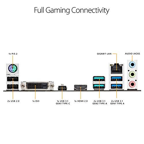 ASUS TUF B450-PLUS Gaming Scheda Madre Gaming AMD B450 con Illuminazione a LED Aura Sync RGB, Supporto DDR4 4400 MHz, 32 Gbps M.2, HDMI 2.0b, Type C e USB 3.1 Gen 2 Nativo