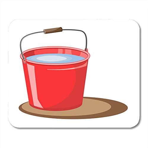 Muismat rode emmer water brandblusser voor de tuin muismat voor notebooks, desktop computer muismatten