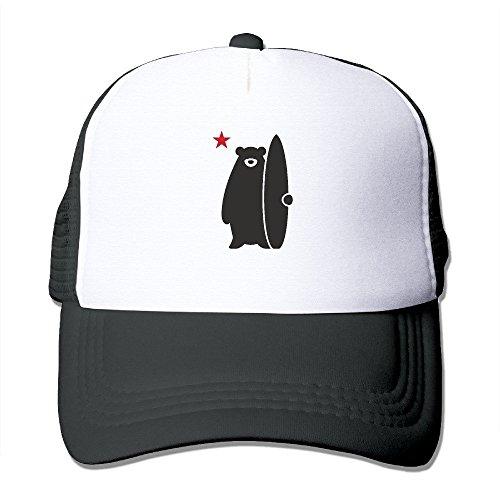 CustomHK California Surf Bear Funny Lovely Surfers Trucker Hat Snapback Cap