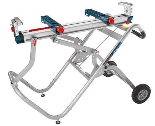 Bosch Portable Gravity Rise Miter Saw Stand with Wheels