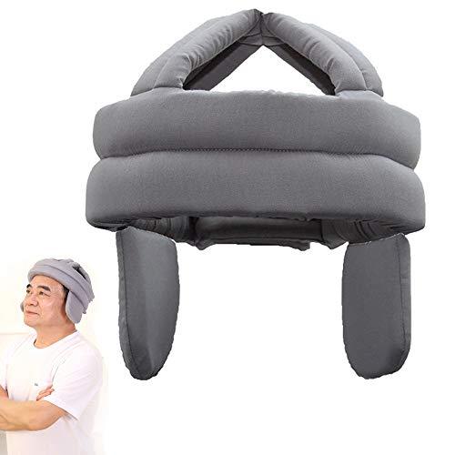 GHzzY Elderly Fall Prevention Cap - hoofdbeschermkap ter bescherming van het hoofd tegen stoten en blauwe vlekken - anti-botsingshelm met gehoorbescherming