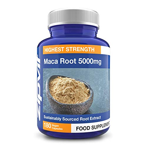 Maca Root Capsules 5000mg, High Strength Maca Root Powder Extract. 180...