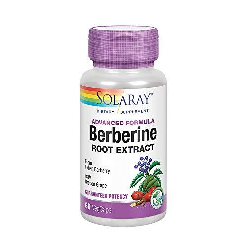 Solaray Berberine Root Extract Advanced Formula | AMPK Activator | Healthy Immune, Digestion & Metabolism Support | 60 VegCaps