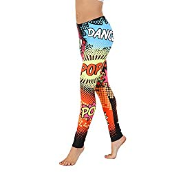 Pop art dance leggings