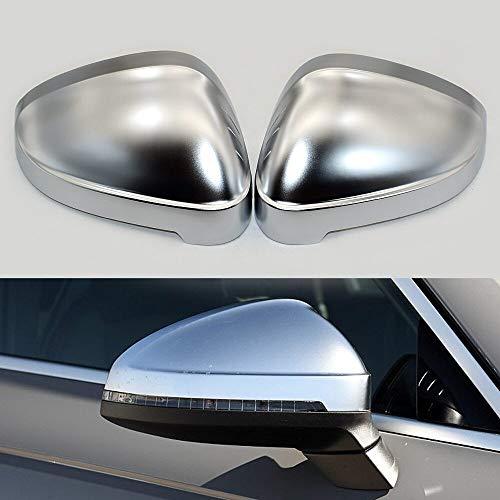 Cubierta del espejo retrovisor 1 Par De Auto Espejo Retrovisor Protección Shell Cubierta Del Coche CapMatte Cromo Fit For Audi A4 A5 B9 S4 Cubierta Del Espejo Retrovisor Del Ala Cubierta de retrovisor