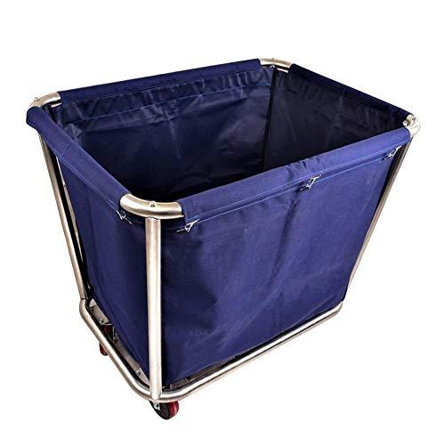 BLWX LY Heavy Duty wasmachine, afneembare tas, roestvrij stalen wielen, linnen wagen, voor hotels, schoonheidssalons, kleding opbergwagen