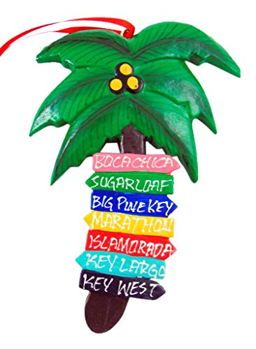 Westmon Works Florida Keys Palm Tree Christmas Ornament Decoration with Hand Painted