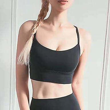 Padded Ultrasoft for Yoga Gym Workout Fitness GYMMON Womens Sports Bra