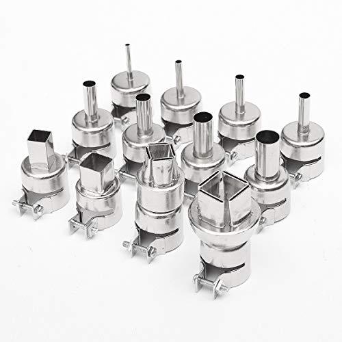 12 unids 3/4/5/6/7/8/10/12mm A1125 A1126 boquilla de pistola de calor para 850 estación de soldadura de aire caliente