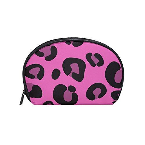TIZORAX Kosmetiktasche mit Leopardenmuster, Reise-Organizer, Make-up-Tasche für Frauen und Mädchen