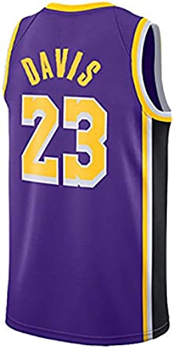 Jersey Anthony Davis, Los Angeles Lakers, 23, Anthony Davis23 , Maillot de Basket-Ball, Manches Classique, Unisexe - Fan Collection
