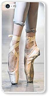 iPhone 5C Case AOFFLY Ballet Point Dance Clear PC Hard Case For Apple iPhone 5C