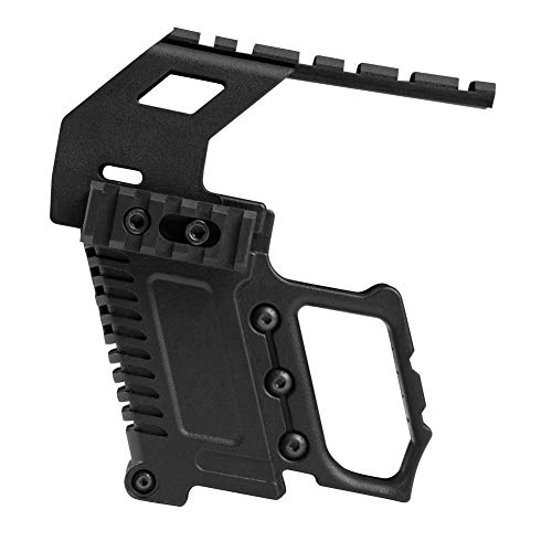 Tactical Area ABS Pistol Carbine Kit Mount W/Rail Panel for G17 G18 G19 GBB Series Accessorie-(BK-R)