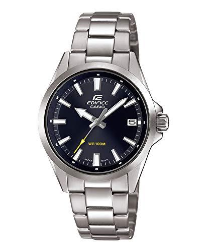 CASIO Herren Analog Quarz Uhr mit Edelstahl Armband EFV-110D-1AVUEF