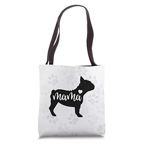 French bulldog Dog Mom Mama Funny Silhouette Gift Tote Bag
