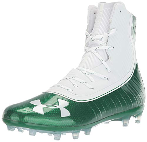 Under Armour Men's Highlight MC Football Shoe, Classic Green (301)/White, 11