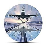 Tbqevc Montre d'aviation Pilote de Montre à Quartz d'atterrissage d'avion de Ligne Moderne 12 Pouces